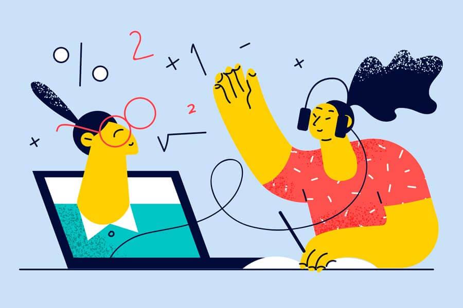 وکتور آموزش آنلاین مجازی پاندمی کرونا