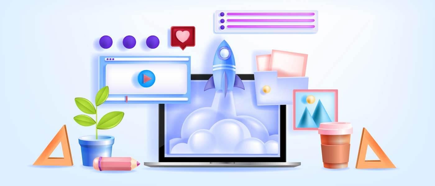 وکتور آموزش آنلاین ویدیو آموزشی وبینار کنفرانس