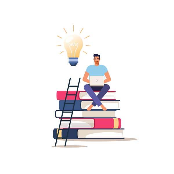 وکتور آموزش از راه دور دوره آموزشی آنلاین