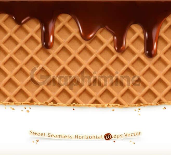 وکتور ایلاستریتور وافل شکلات