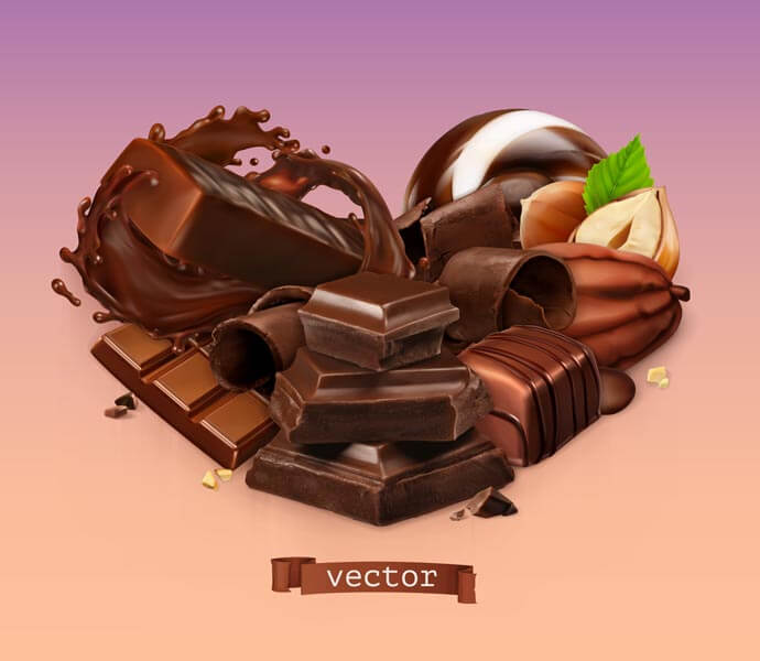 وکتور شکلات کاکائو فندقی