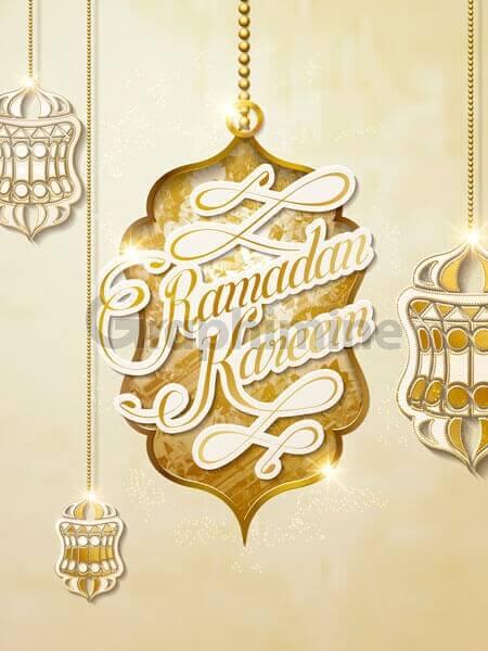وکتور طرح اسلامی تبریک ماه رمضان