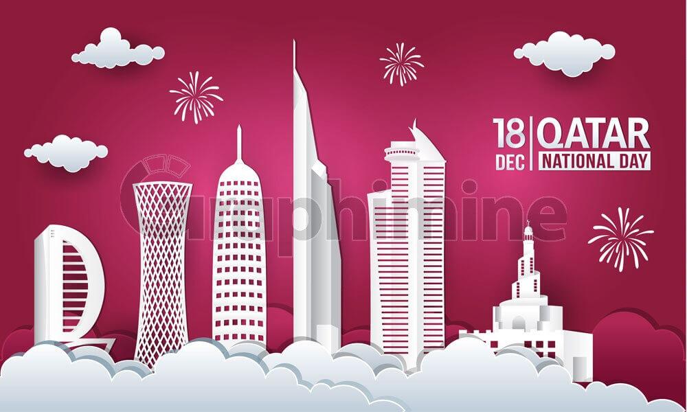 وکتور طرح ایلاستریتور روز جهانی قطر برج