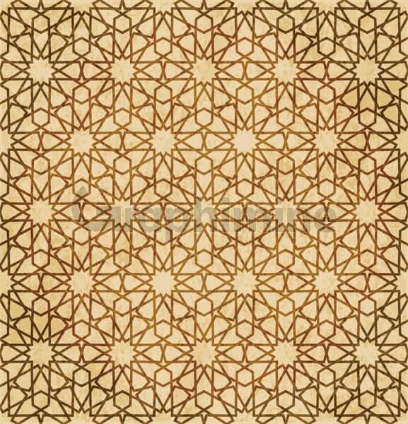 وکتور پترن هندسی قهوه ای شرقی اسلامی