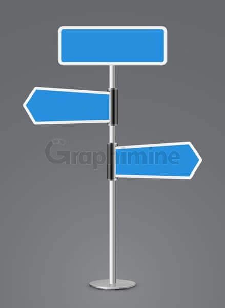 وکتور تابلو راهنما جهت مکان مسیر
