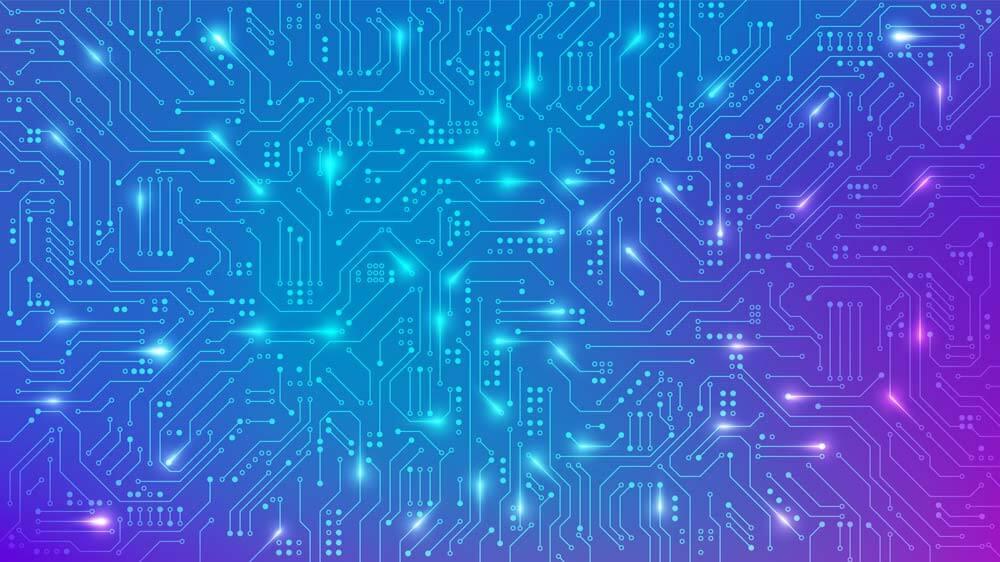 وکتور مدار رنگی تکسچر تکنولوژی انتزاعی سیگنال خطوط اتصال مادربرد الکترونیکی
