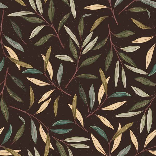 وکتور پترن پس زمینه گیاه شناسی جنگل پاییز