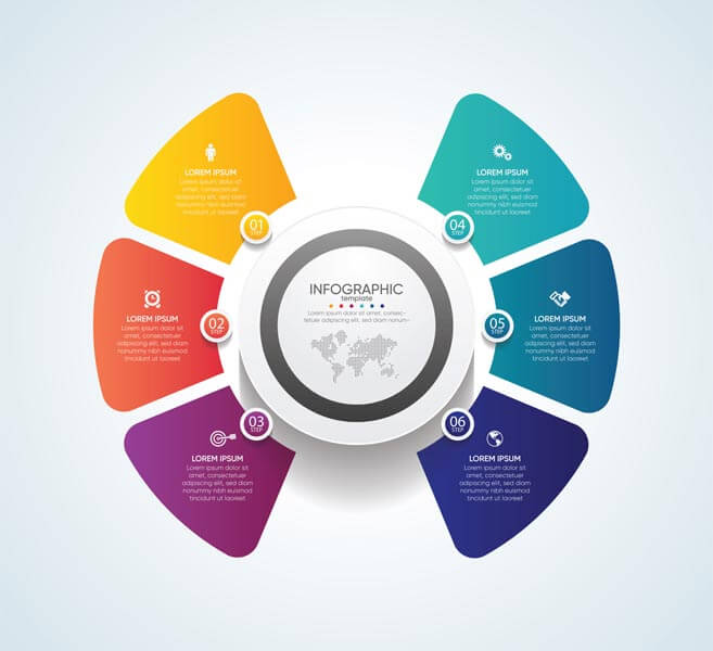 وکتور ارائه الگوی اینفوگرافیک تجاری