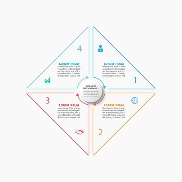 وکتور ارائه اینفوگرافیک تجاری الگو گزینه ها