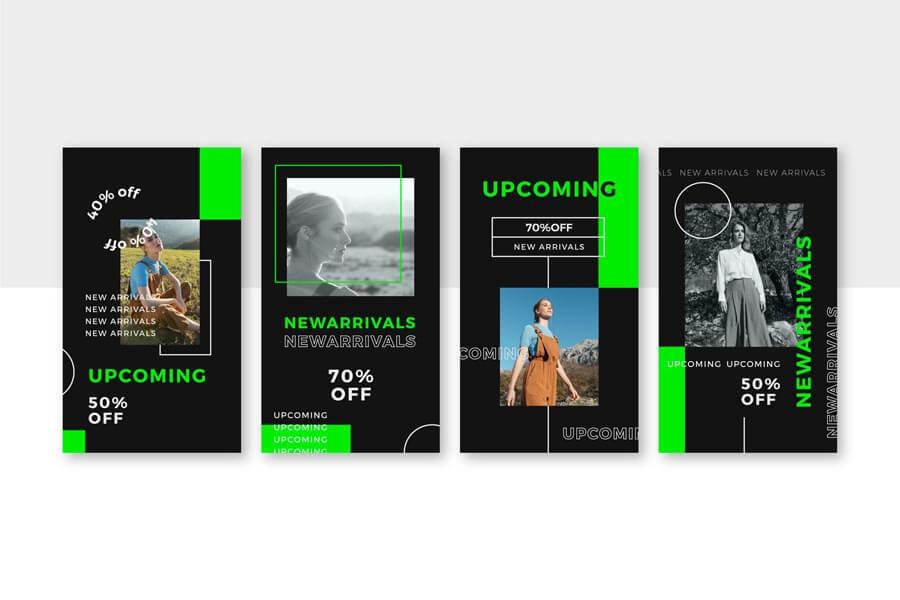 وکتور قالب استوری اینستاگرام فروش آنلاین لباس