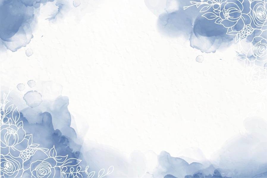 وکتور پس زمینه آبرنگی گل آبی