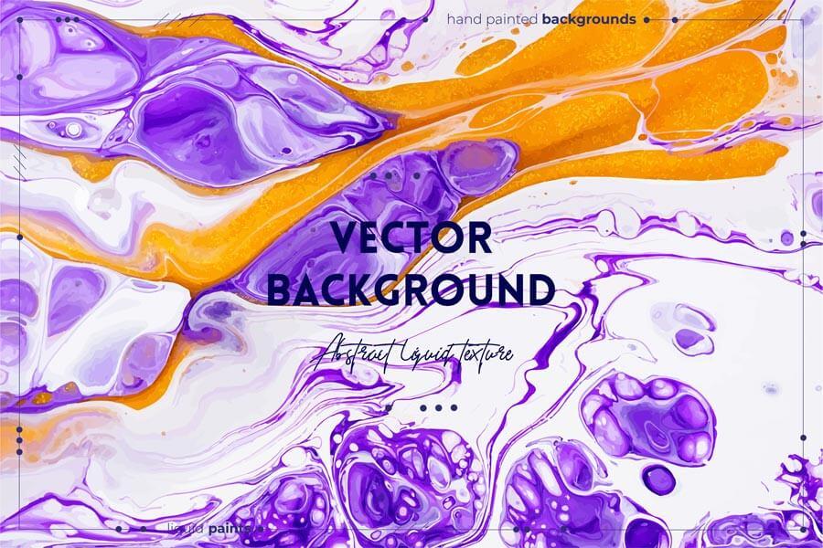 وکتور تکسچر انتزاعی ترکیب مایع های رنگ ها