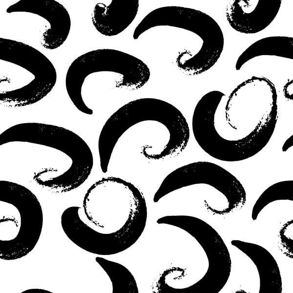 وکتور پترن گرانج دست کشیده سیاه و سفید