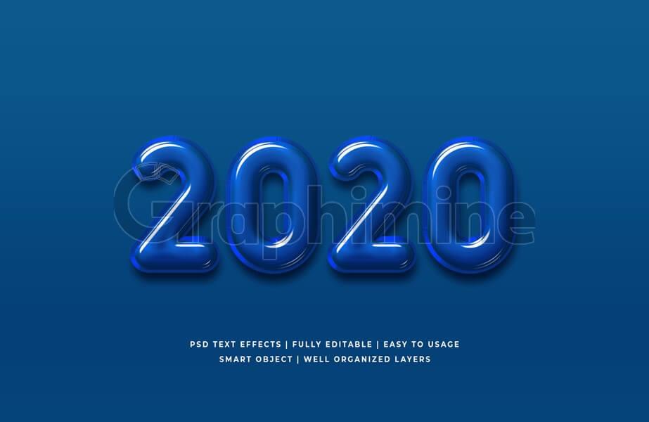 افکت آماده فتوشاپ متن رنگی سال 2020