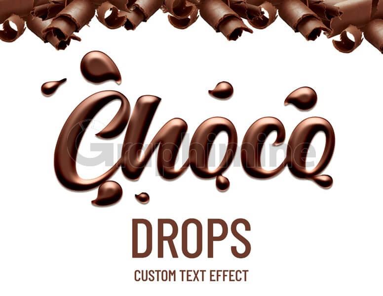 افکت آماده فتوشاپ متن شکلاتی