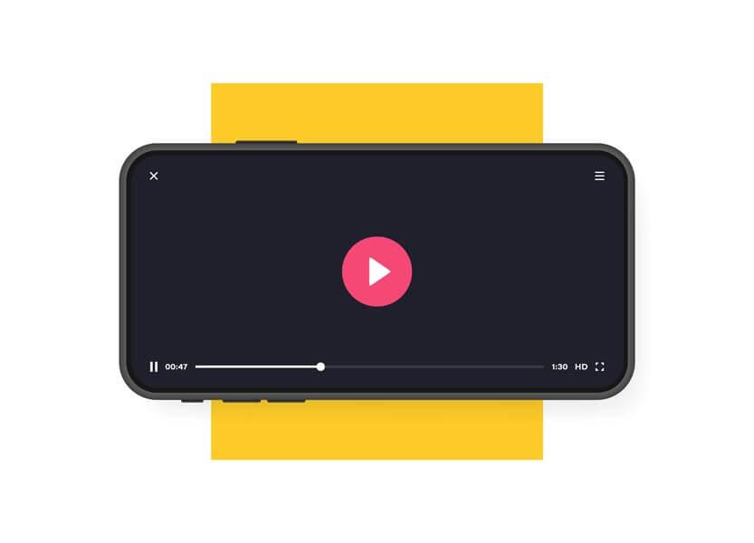 وکتور رابط کاربری موبایل اپلیکیشن پلیر پخش کننده ویدئو استریم