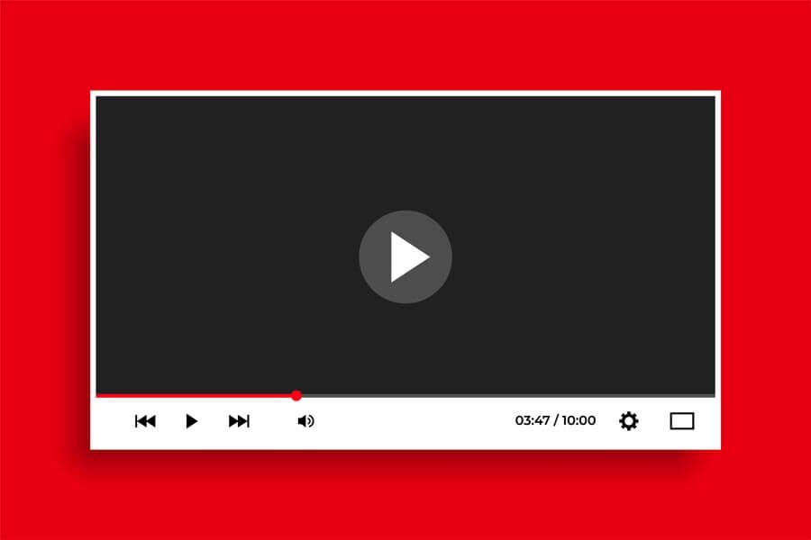 وکتور رابط کاربری پخش کننده پلیر ویدئو مدرن