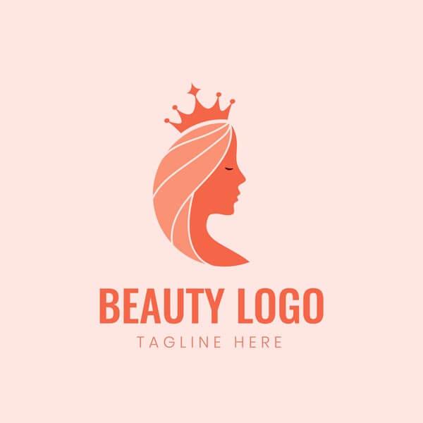 وکتور لوگو زیبایی آرایشگاه تاج ملکه
