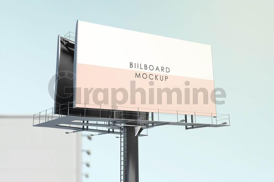 موکاپ بیلبورد تبلیغاتی افقی